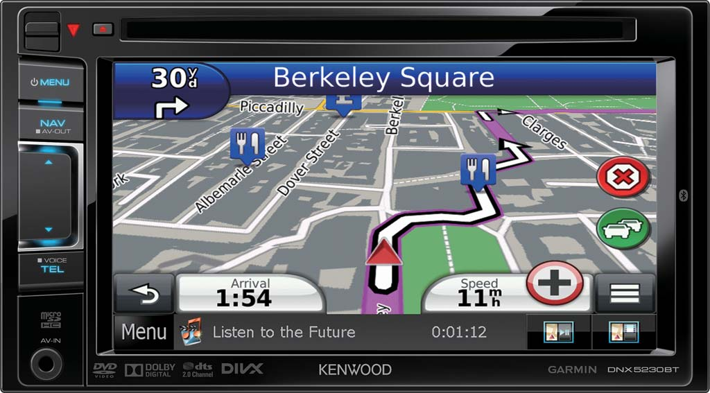 kenwood dnx5230bt 6 1 wvga 2din navigation system with blue. Black Bedroom Furniture Sets. Home Design Ideas