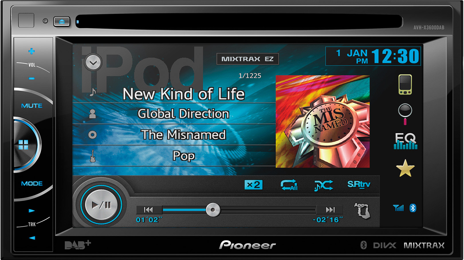 "Pioneer Pioneer 6.1"" DAB AV Unit (AVHX3600DAB) - Car Audio Centre"