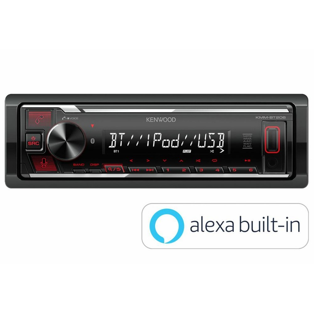 Kenwood Kenwood Mechless Unit with Alexa (KMM-BT206) - Car Audio Centre