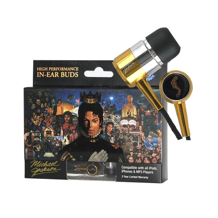 In Phase Michael Jackson In Ear Buds High performance Gold Edition - Car Audio Centre