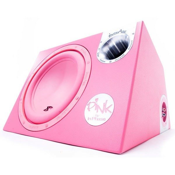 "In Phase InPhase 12"" 1400W Pink Active Sub (XTP12A) - Car Audio Centre"